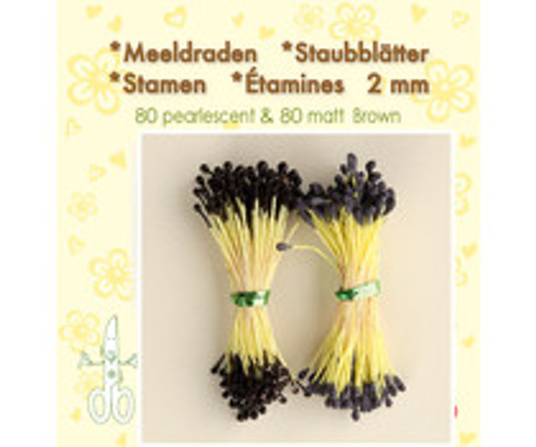Leane Creatief, Stamens, Brown (26.4377)  Use stamens in all your handmade flower making. Can be used with paper and foamiran flowers.