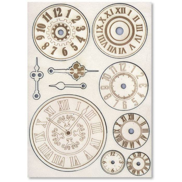 Stamperia - Wooden Shapes - A5 Mechanisms & Watches (KLSP005)  Stamperia wooden shapes are high quality embellishments to add depth to all your crafting projects especially mixed media and scrapbooking. A5 size.