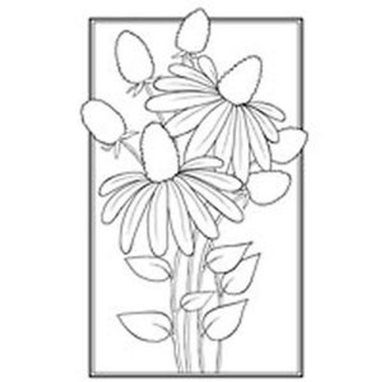 Woodware Clear Magic Singles - Cone Flower (JGS444)  Polymer stamps are ready to mount on an acrylic block.  Packaged size A6 approx.
