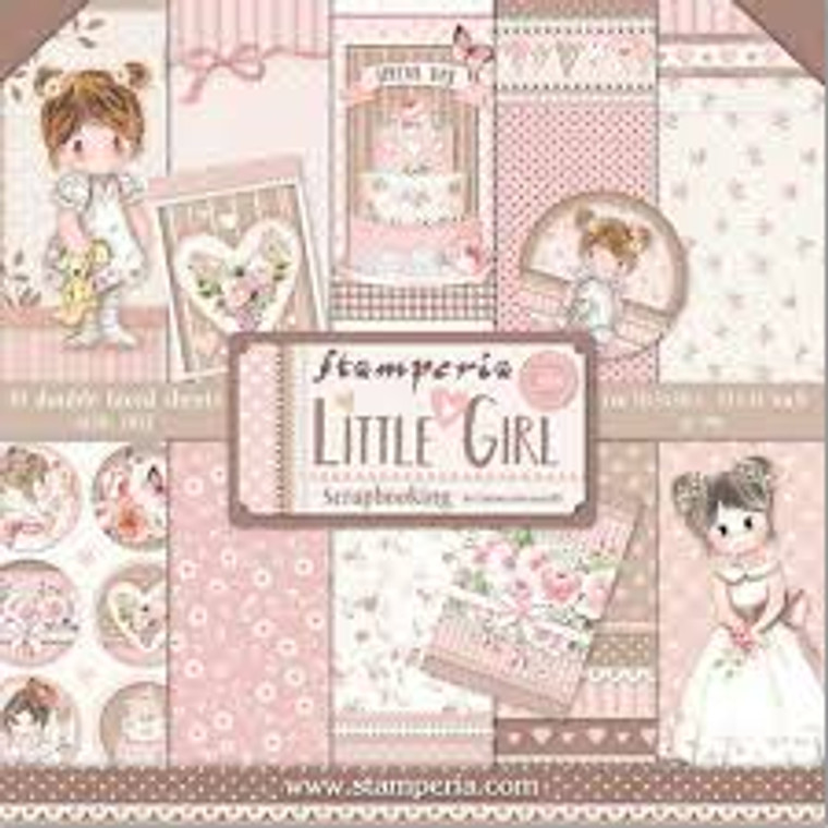 "Stamperia - Little Girl - 12"" x 12"" Paper Pad by Tatiana Antonicelli (SBBL67) Stamperia exclusive designs. Paper Pad with 10 double-sided patterned paper. Thickness: heavyweight paper 190 g/m² Size: 12 ""x 12"" - 30,48 x 30,48 cm, Features: Acid & lignin free. Made in Italy"