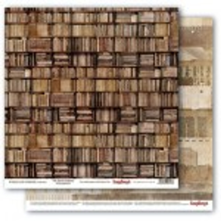 """Scrapberry's Double-sided paper, 12x12, 190 gsm, Words Live Forever Collection - 7th Street Library (1 sheet) (SCB220609302)  Scrapberry's Double-sided design paper ideal for scrapbooking, making models, dressing boxes, decorating cards and much more. Size: 12""""x12"""", 1 sheet; 190gsm. Acid & Lignin Free."""