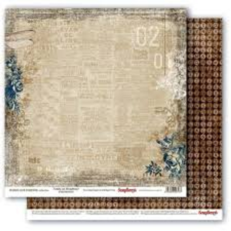 """Scrapberry's Double-sided paper, 12x12, 190 gsm, Words Live Forever Collection - Tonite on Broadway (SCB220609305)  Scrapberry's Double-sided design paper ideal for scrapbooking, making models, dressing boxes, decorating cards and much more. Size: 12""""x12"""", 1 sheet; 190gsm.Acid & Lignin Free."""