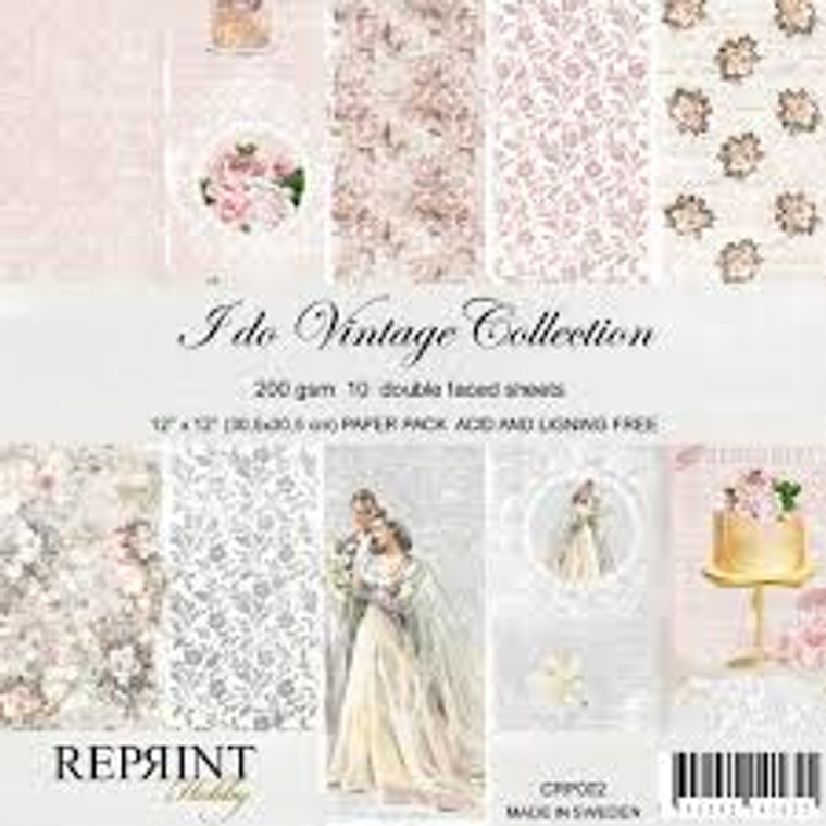 Reprint I Do 12x12 Inch Collection Pack (CRP002)  Swedish collection design paper for projects like scrapbooking, making cards or home decor. Pack contains 10 double sided sheets.  Acid & lignin free, 200gsm.