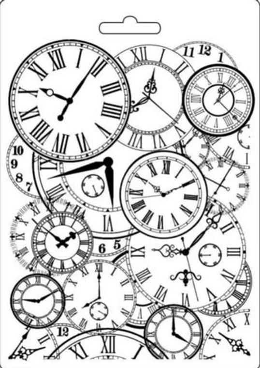 Stamperia Texture Impression Moulds - A5 - Clocks (K3PTA548)