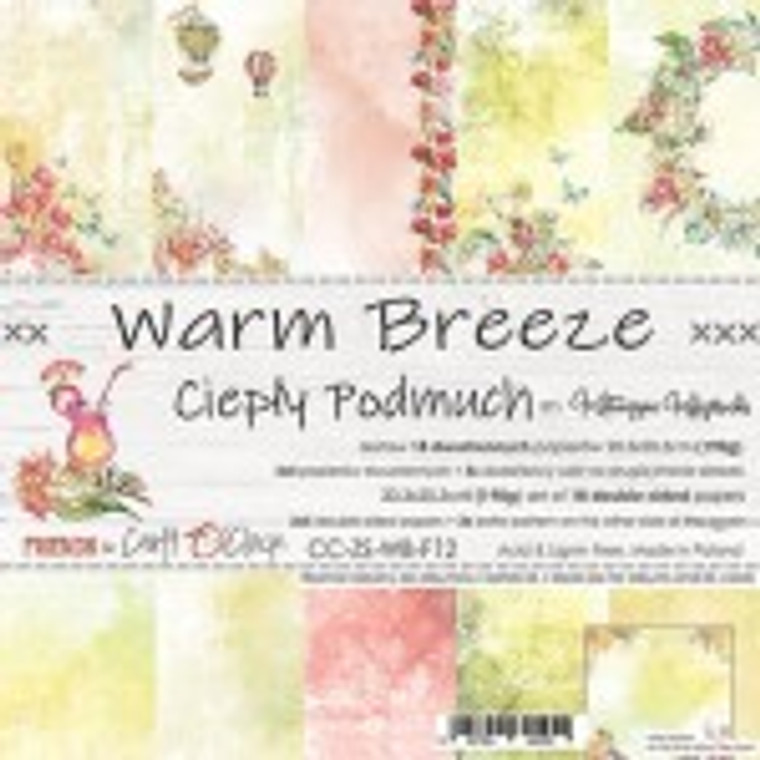 """Craft O'Clock - Paper Collection Set 8"""" x 8"""" Warm Breeze - 250 gsm, bonus design on back of the cover (CC-ZS-WB-F12)  A set of 18 double-sided pages.  Warm Breeze Collection (6 patterns) of high quality scrapbooking paper.  Each page is 8x8 inches or 20.3 x 20.3cm.  The paper weight is 250gsm.  This product is acid and lignin free."""