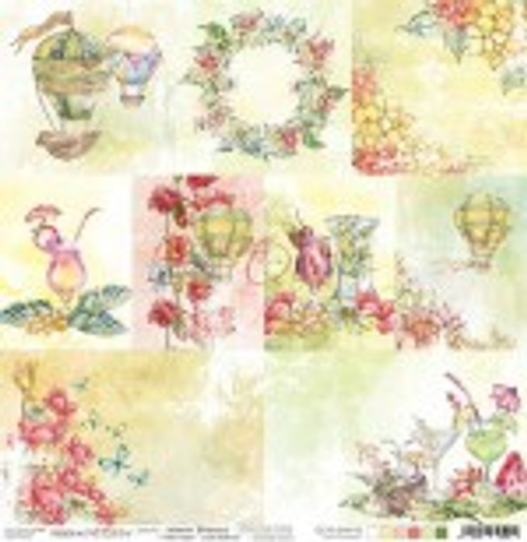 """Craft O'Clock - Warm Breezee collection - Double-sided paper 12""""x 12"""" - Decorative Cards - 190 gsm (1 sheet) (CC-PL-SW-F10)  Single sheet of high-quality paper for scrapbooking and other craft projects. Acid-free and lignin-free.  Double sided paper.  Size: 12x12 inches (30,5x30,5cm)  Weight: 250g / m2."""