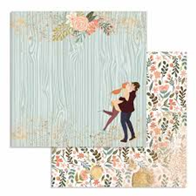 """Stamperia - Double-Sided Paper - Love Story Lovers - Single 12x12 sheet (SBB726)  Stamperia exclusive designs. 12"""" x 12"""" high quality double-sided paper with a different design on each side. Perfect for scrapbooking, cardmaking and mixed media. One 12 x 12"""" sheet. Acid & lignin free. Made in Italy."""