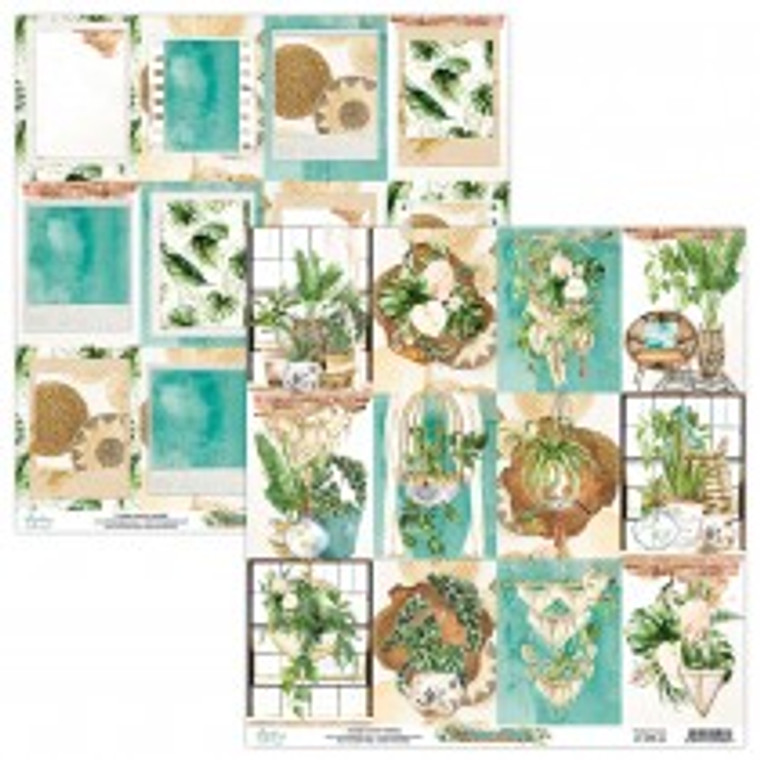 Mintay - Urban Jungle - 12 x 12 Elements (MT-URB-06)  Elements sheet for fussy cutting. Acid and Lignin free.  Made in Poland
