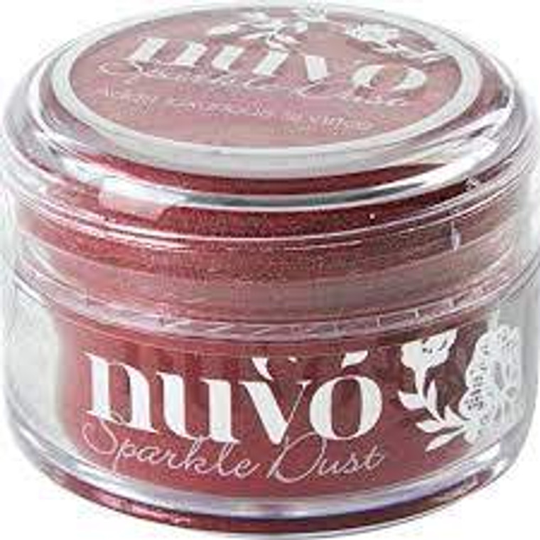 Nuvo - Sparkle Dust - Hollywood Red (550N)  Micro fine glitter, It is so fine that it doesn't have the same feel as glitter and a little can go a long way.  Use with stamps, stencils or and papercraft project, these 15ml pots are perfect.  This tub comes with a wide top allowing you to easily pour any excess back in to use next time.