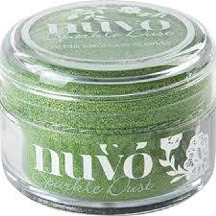 Nuvo - Sparkle Dust - Fresh Kiwi (544N)  Micro fine glitter, It is so fine that it doesn't have the same feel as glitter and a little can go a long way.  Use with stamps, stencils or and papercraft project, these 15ml pots are perfect.  This tub comes with a wide top allowing you to easily pour any excess back in to use next time.