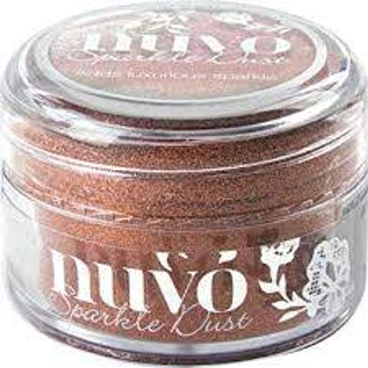 Nuvo - Sparkle Dust - Cinnamon Spice (543N)  Micro fine glitter, It is so fine that it doesn't have the same feel as glitter and a little can go a long way.  Use with stamps, stencils or and papercraft project, these 15ml pots are perfect.  This tub comes with a wide top allowing you to easily pour any excess back in to use next time.