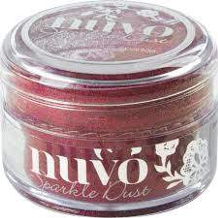 Nuvo - Sparkle Dust - Rasberry Bliss (543N)  Micro fine glitter, It is so fine that it doesn't have the same feel as glitter and a little can go a long way.  Use with stamps, stencils or and papercraft project, these 15ml pots are perfect.  This tub comes with a wide top allowing you to easily pour any excess back in to use next time.
