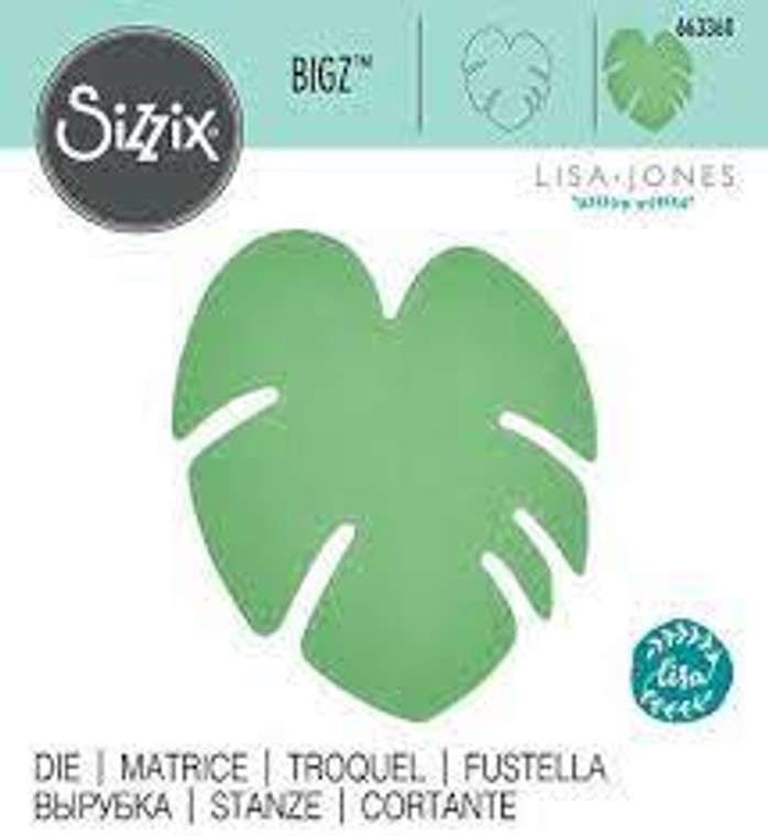 Sizzix Bigz Die - Tropical Leaf (663360)  With steel-rule construction, a Bigz die cleanly cuts thick materials, including cardstock, chipboard, fabric, foam, magnet, leather, metallic foil, paper and sandpaper (in limited use). Its wider size offers you more design options.  This die is designed for use only with the BIGkick, Big Shot and Vagabond machines and requires the use of a pair of Cutting Pads.