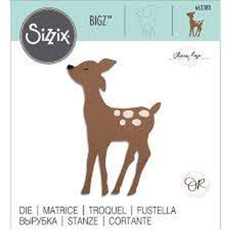 Sizzix Bigz Die - Retro Deer (663380)  With steel-rule construction, a Bigz die cleanly cuts thick materials, including cardstock, chipboard, fabric, foam, magnet, leather, metallic foil, paper and sandpaper (in limited use). Its wider size offers you more design options.  This die is designed for use only with the BIGkick, Big Shot and Vagabond machines and requires the use of a pair of Cutting Pads.