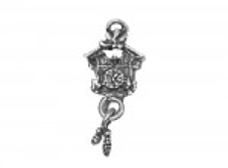 Scrapberry's - Metal Charms - Silver Cuckoo Clock - 10 pcs - (SCB25013612s)  Scrapberry's pack of 10 metal charms/embellishments. Silver Cuckoo Clock, approximate size of each charm = 20x13mm.  These items are not toys, and are not suitable for children.  They are designed for use as charms or embellishments in all your scrapbooking projects, card making and much more.
