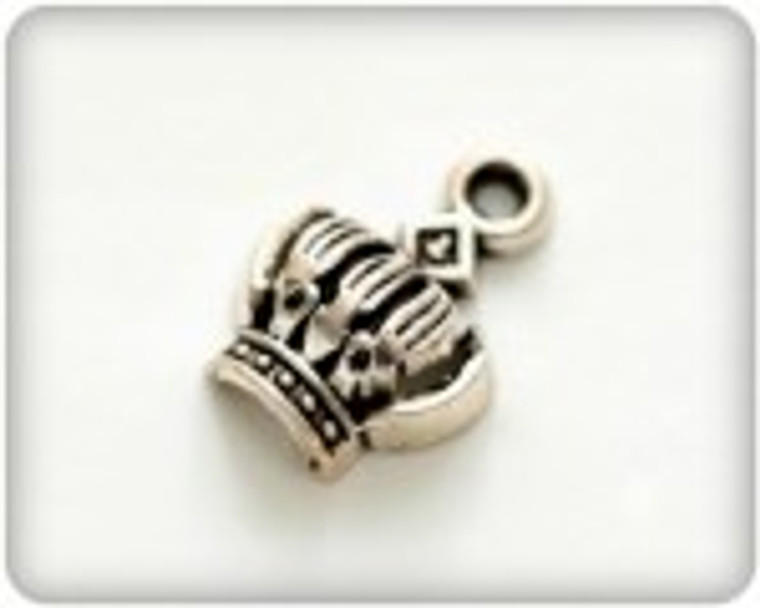 Scrapberry's - Metal Charms - Silver Crown - 10 pcs - (SCB250115049-1)  Scrapberry's pack of 10 metal charms/embellishments. Small Silver Crowns, approximate size of each charm = 8x13mm.  These items are not toys, and are not suitable for children.  They are designed for use as charms or embellishments in all your scrapbooking projects, card making and much more.