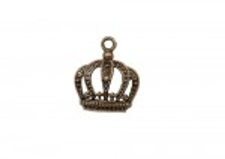 Scrapberry's - Metal Charms - Bronze Crown - 10 pcs - (SCB25013638-1)  Scrapberry's pack of 10 metal charms/embellishments. Bronze Crowns, approximate size of each charm = 24x20mm.  These items are not toys, and are not suitable for children.  They are designed for use as charms or embellishments in all your scrapbooking projects, card making and much more.
