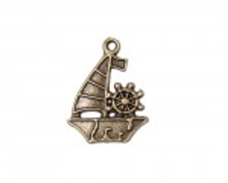 Scrapberry's - Metal Charms - Bronze Sail Boat - 10 pcs - (SCB25013711-1)  Scrapberry's pack of 10 metal charms/embellishments. Bronze Sail Boats, approximate size of each charm = 29x22mm.  These items are not toys, and are not suitable for children.  They are designed for use as charms or embellishments in all your scrapbooking projects, card making and much more.