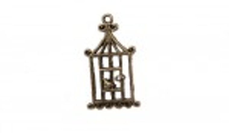 Scrapberry's - Metal Charms - Bronze Flat Birdcage - 10 pcs - (SCB25011531-1)  Scrapberry's pack of 10 metal charms/embellishments. Bronze Flat Birdcages, approximate size of each charm = 18x32mm.  These items are not toys, and are not suitable for children.  They are designed for use as charms or embellishments in all your scrapbooking projects, card making and much more.
