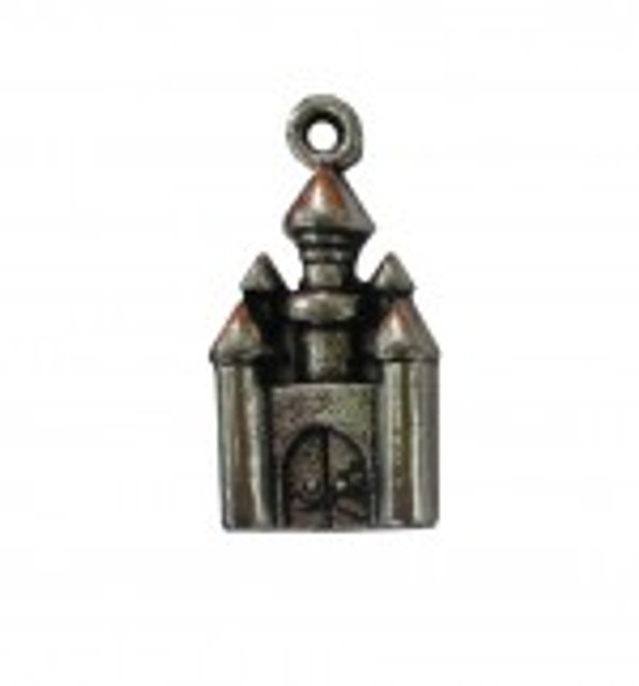 Scrapberry's - Metal Charms - Silver Fairytale Castle - 5 pcs - (SCB250103883)  Scrapberry's pack of 5 metal charms/embellishments. Silver Fairytale Castles, approximate size of each charm = 14x28mm.  These items are not toys, and are not suitable for children.  They are designed for use as charms or embellishments in all your scrapbooking projects, card making and much more.