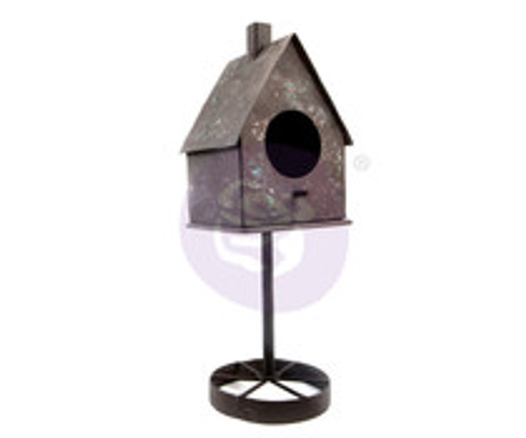 Prima Marketing - Finnabair Metal Frame - Tall Rusty Birdhouse (967079)  Alterable home decor pieces with a vintage look perfect for mixed media art and more! Details: 1 piece, approximate dimensions - 30cm x 10cm x 10cm. Package Size (IN): 12x4x4.  Weight 556g.