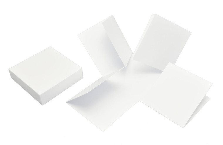 Exploding Box With Lid and Flaps - White - 300gsm - 2 pieces - (ID3327)             dimensions after folding 10x10x10cm     the four walls close like shutters     height of the lid wall 3cm     basis weight  300g / m2     for self-assembly
