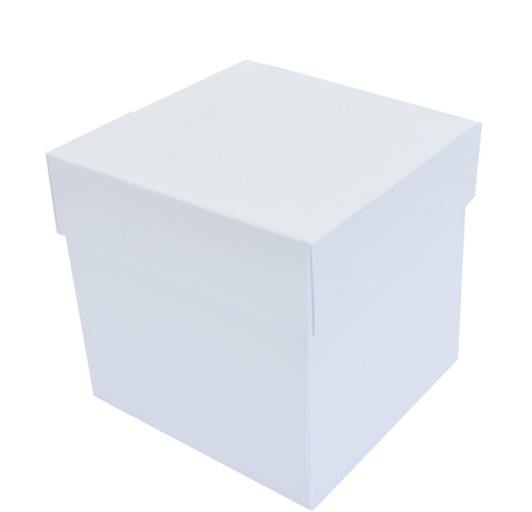 Exploding Box With Lid and Pockets - White - 300gsm - 2 pieces - (ID3469)