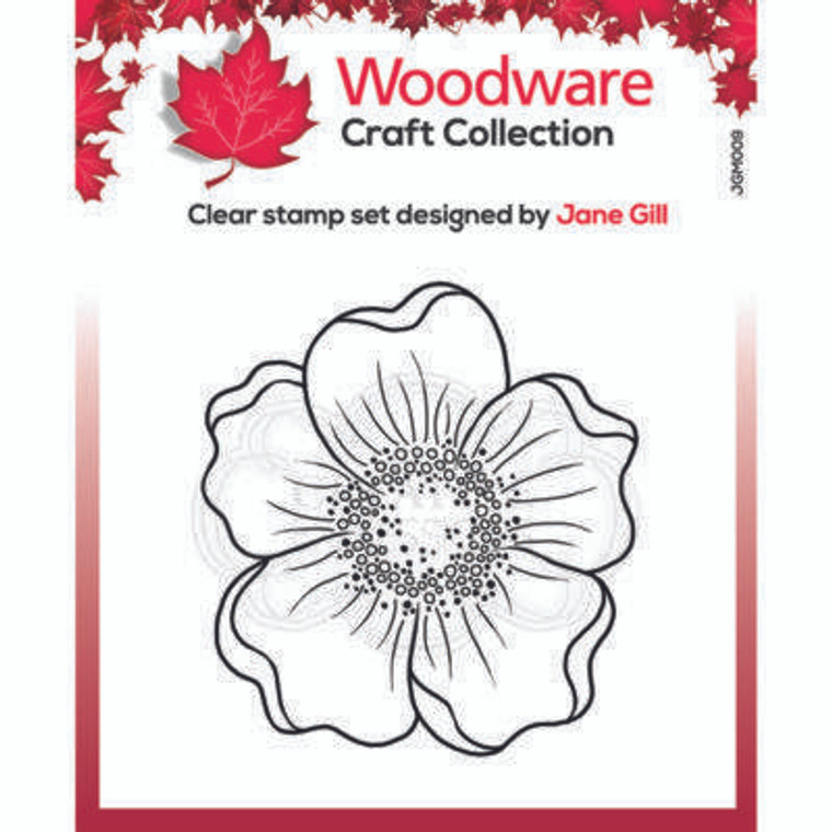 """Woodware Clear Singles Mini Scented Blooms 3.8"""" x 2.6"""" Stamp by Jane Gill (JGM009)  • Great stamp for cards, mixed media and scrapbooking • Can be used on a great variety of surfaces depending on the ink type, use with ink pads or paints • High quality polymer stamp designed and made in UK"""