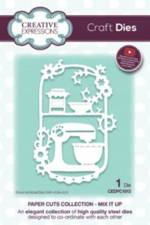 Creative Expressions Paper Cuts - Mix It Up Craft Die (CEDPC1013)      High quality steel die      Contains 1 die     Size 9.9 x 6.6 cm (3.9 x 2.6 inches)