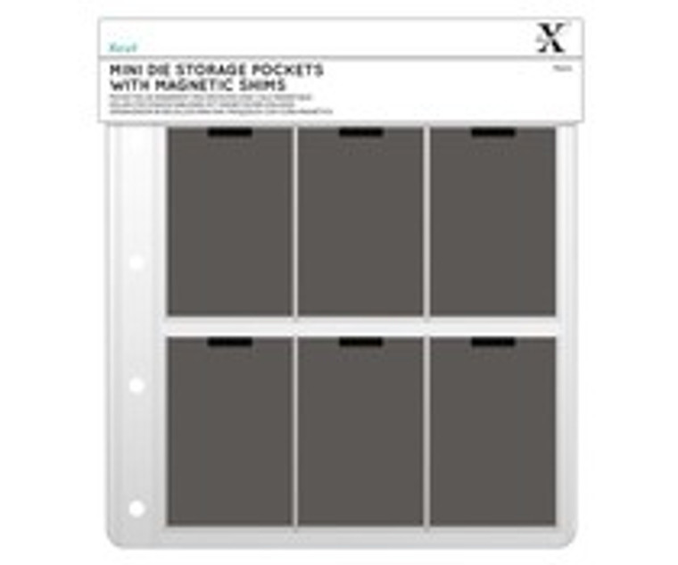 Xcut Mini Dies Storage Wallet (10pcs) (XCU 245101)  Refill Wallets for the Xcut Mini Dies Storage Folder. All wallets contain a magnetic sheet ensuring safe and easy storage of your Dies. (10pk).  No more lost dies!