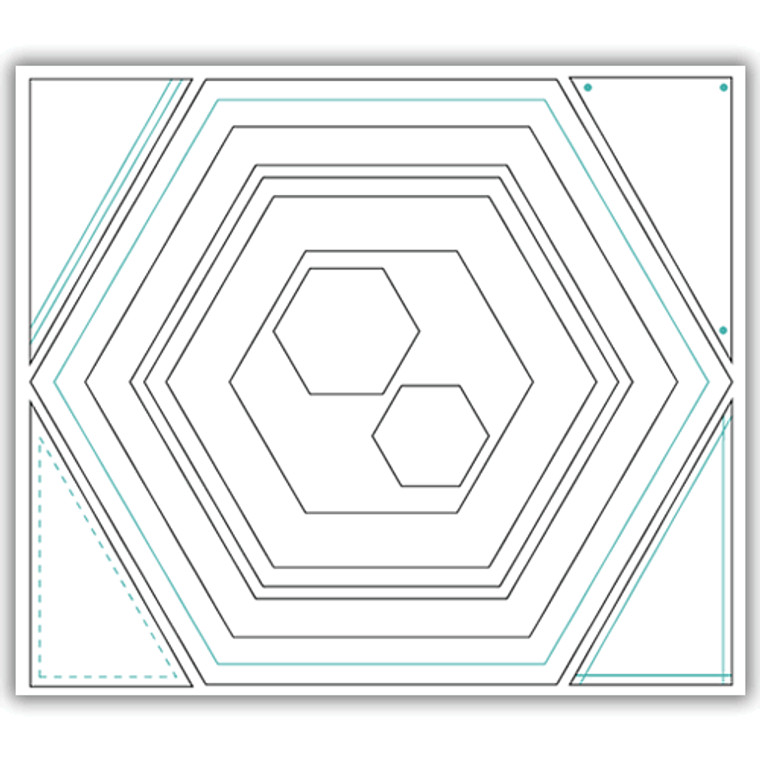 Julie Hickey Designs Die Set - Hexagon (JHD-CUT-1005)  Designed by Julie Hickey for the Summer 2019 Collection Comprises: 11 dies    Size of largest die: 130mm x 150mm  Made from carbon silver steel  Set of layers, frames and banners in hexagon shape. Largest die has embossed line and perfect to create card blanks.  Single cut hexagon die, skinny hexagon frame die, 2 single cut hexagon dies, 2 small single cut hexagon dies - perfect for sentiments. 4 triangle shaped dies each with different embossed elements.  Dies can be used individually to create layers or 2 dies used together to create frames.  Mix and match dies to create different width frames.  Co-ordinates perfectly with Beautiful Blooms Stamp Set JH1002.