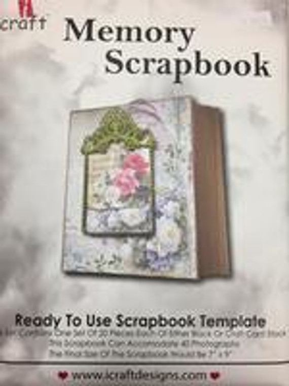 """iCraft Design Memory Scrapbook- (i950170)  This set contains one set of 120 pieces each of either black or kraft card stock Finished size: 7"""" x 9"""""""