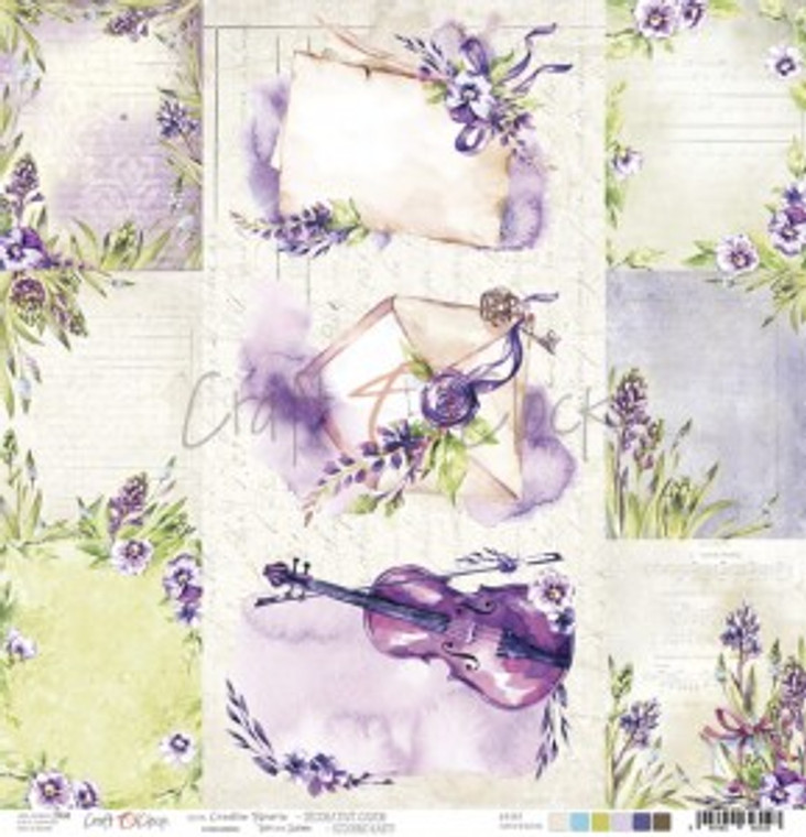 """Craft O'Clock - Creative Reverie collection - Single Sided Paper 12""""x 12"""" Decorative Cards - 190 gsm (1 sheet) (CC-PL-CR-29)  Single sheet of high-quality paper from Creative Reverie collection, ideal for scrapbooking and other craft projects.  Single sided paper.  Size: 12x12 inches (30.5x30.5cm)  Weight: 250g.  Acid-free and lignin free."""