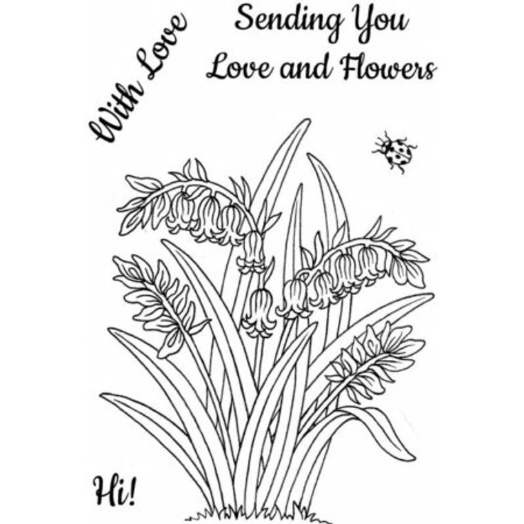 Sweet Dixie Stamp Set - Bluebells - (SDCSA6297)  Stamps ideal for cardmaking and scrapbooking.