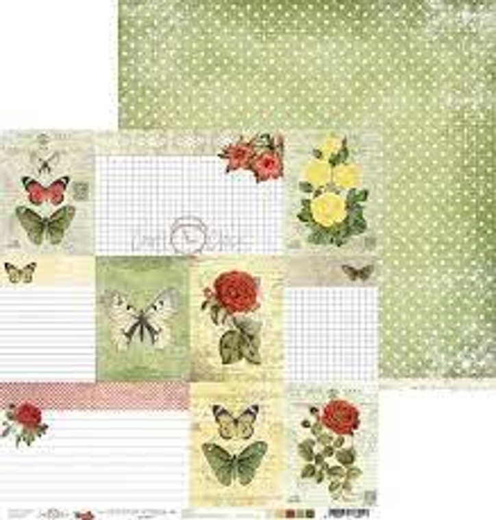"""Craft O'Clock - Heritage Stories collection - Double Sided Paper 12""""x 12"""" - Heritage Stories No.6 - 190 gsm (1 sheet) (CC-PD-HS-17-06)  Single sheet of high-quality paper from Heritage Stories collection, ideal for scrapbooking and other craft projects.  Double sided paper.  Size: 12x12 inches (30.5x30.5cm)  Weight: 250g.  Acid-free and lignin free."""