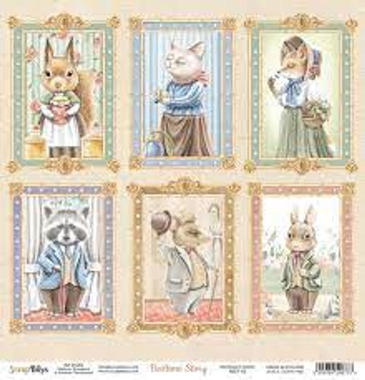 ScrapBoys - Bedtime Story  12 x 12 - Single Sheet - (BEST-03)  ScrapBoys - Bedtime Story Series  12 x 12 Scrapbooking Sheets - Single Sheet - (BEST-03) Sizes : paper sheets ; 30,5 x 30,5 cm ( 12''x12'')  Acid & Lignin Free. Weight: 190 gsm