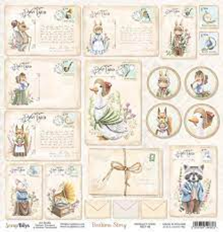 ScrapBoys - Bedtime Story  12 x 12 - Single Sheet - (BEST-06)  ScrapBoys - Bedtime Story Series  12 x 12 Scrapbooking Sheets - Single Sheet - (BEST-06) Sizes : paper sheets ; 30,5 x 30,5 cm ( 12''x12'')  Acid & Lignin Free. Weight: 190 gsm