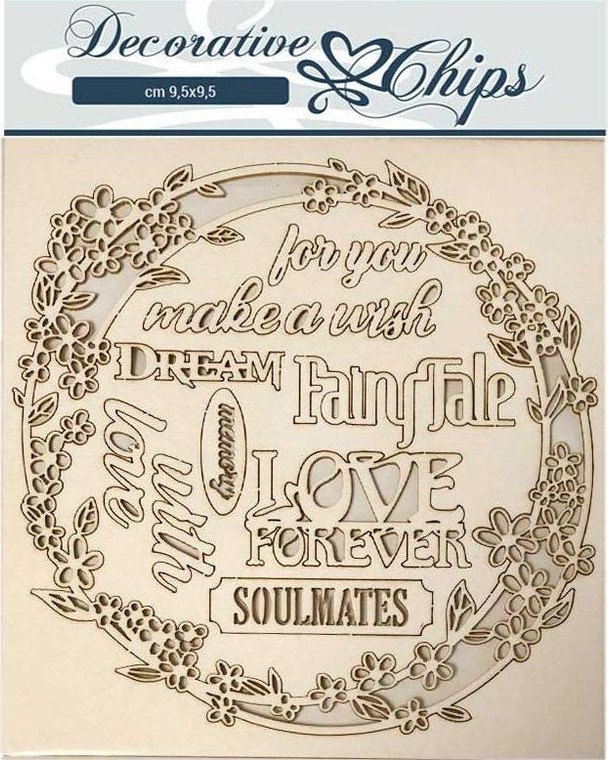 Stamperia Decorative Chips - Garland Love 14 x 14 cm - (SCB57) Great as an addition to your cards and projects