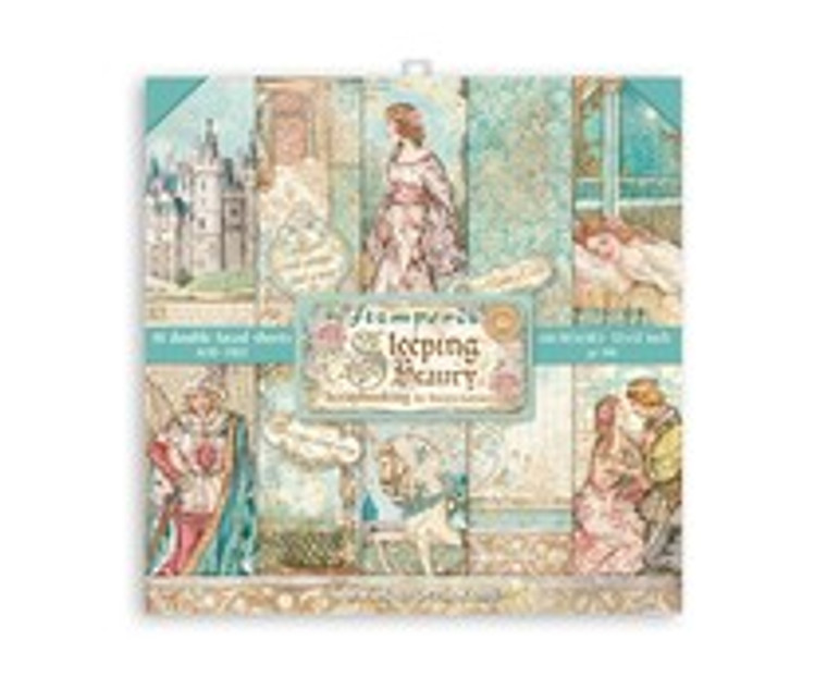 """Stamperia - Sleeping Beauty - 12""""x12"""" Paper Pad - (SBBL89)  Stamperia exclusive designs. Paper Pad with 10 double-sided patterned paper. Thickness: heavyweight paper 170 g/m² Size: 12 """"x 12"""" - 30,48 x 30,48 cm, Features: Acid & lignin free Made in Italy."""