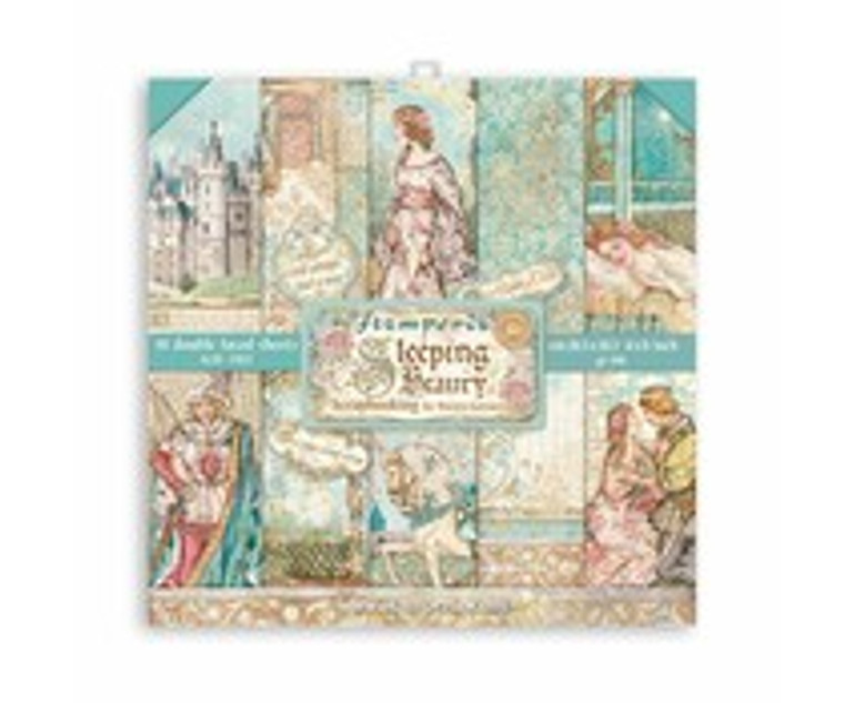"""Stamperia - Sleeping Beauty - 8x8 Inch Paper Pack (SBBS38)  Stamperia exclusive designs. Paper Pad with 10 double-sided patterned paper. Thickness: heavyweight paper 190 g/m² Size: 8 """"x 8"""" - 20.3x20.3cm. Acid & lignin free. Made in Italy."""