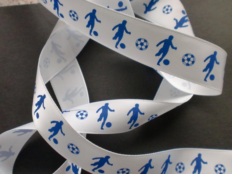 Football player Ribbon - Blue - 20mm x 1m (PMR02BL)