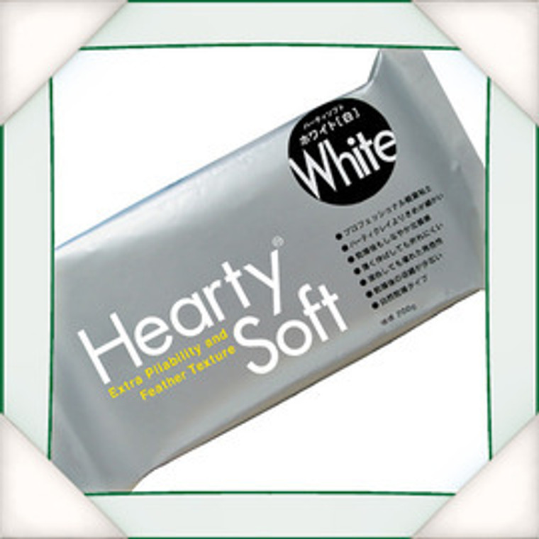 White - Air Drying Modeling Clay 200g  Hearty soft modeling clay is designed with an advanced formula for professional use. Its strength and elasticity despite its velvety texture makes it perfect for making flowers, miniature food, jewellery, and other delicate projects.  Cured pieces hardly break and can be sanded or painted.  Can be mixed with other hearty clays to create an infinite variety of colours. Takes 24 hours to dry.  Caution: Hearty Series Clays can not be stored in under 0 degree temperature condition.