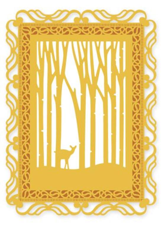 Crafts Too  - Presscut -  Woodland Scene - PCD31     Approx Size: 14cm x 18.5cm - largest die