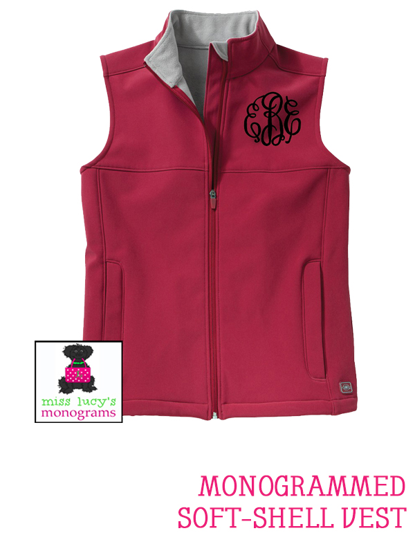 Monogramed Soft-Shell Vest at Miss Lucy's Monograms