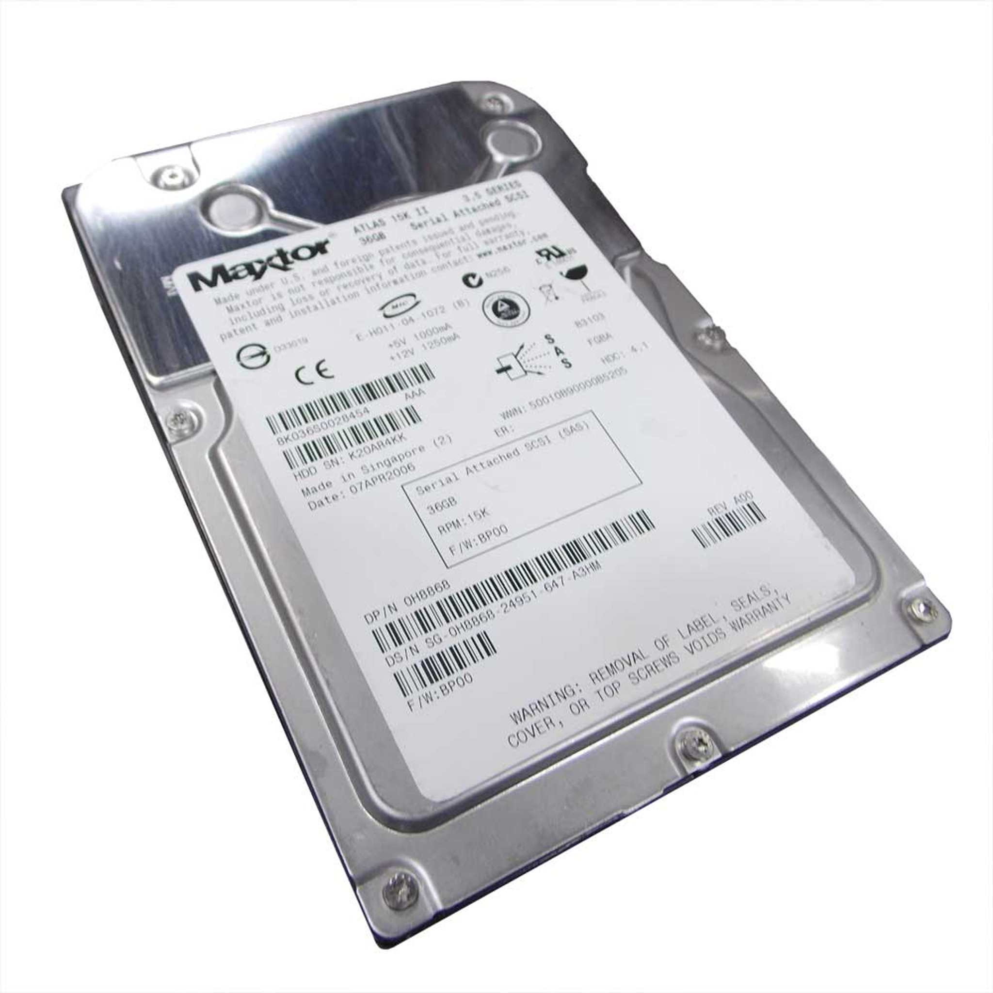 Dell H8868 Hard Drive 36gb 15k SAS 3 5