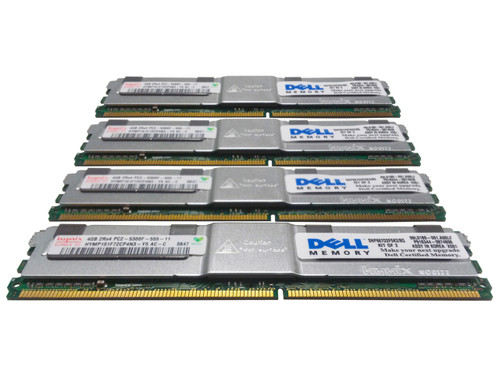 Dell TM143 Memory 16GB PC2-5300F 2Rx4 - 4 Pack