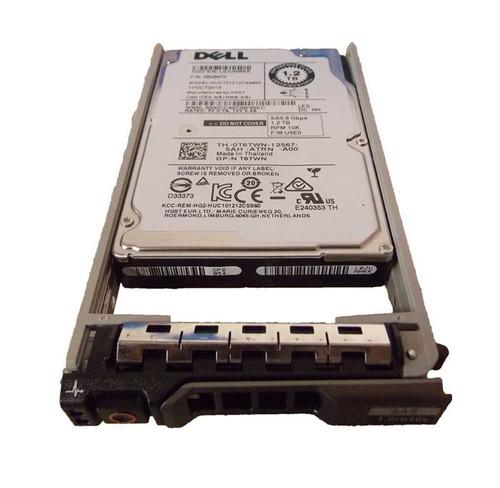 "Dell T6TWN Hard Drive 1.2TB 10K SAS 2.5"" in Tray"