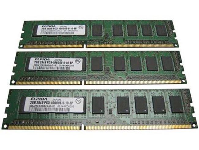 Dell 317-0226 Memory 6GB PC3-10600E 2Rx8 - 3 Pack