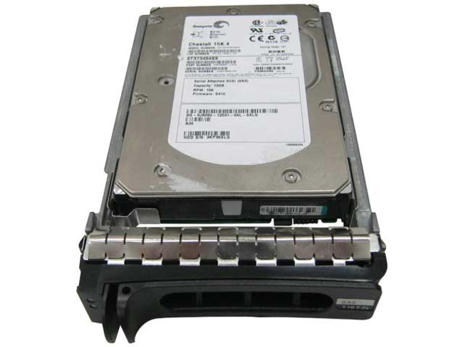 "Dell J8090 Hard Drive 73GB 15K SAS 3.5"" in Tray"