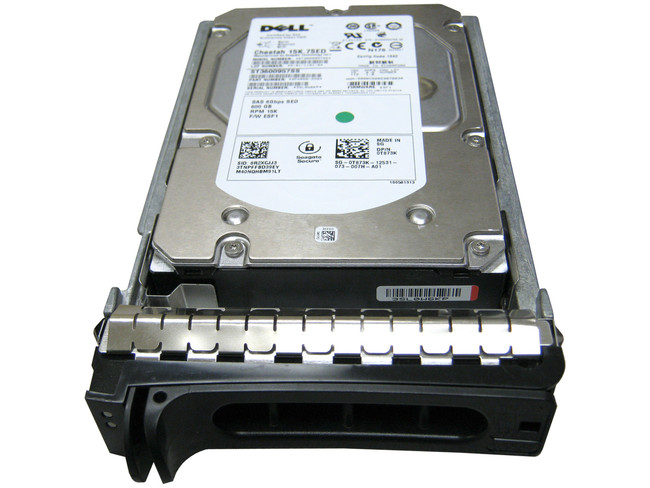 "Dell T873K Hard Drive 600GB 15K SAS 3.5"" in Tray"